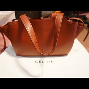 Celine Bags   Medium Brown Smooth Leather Trifold Handbag   Poshmark e9faa9192f